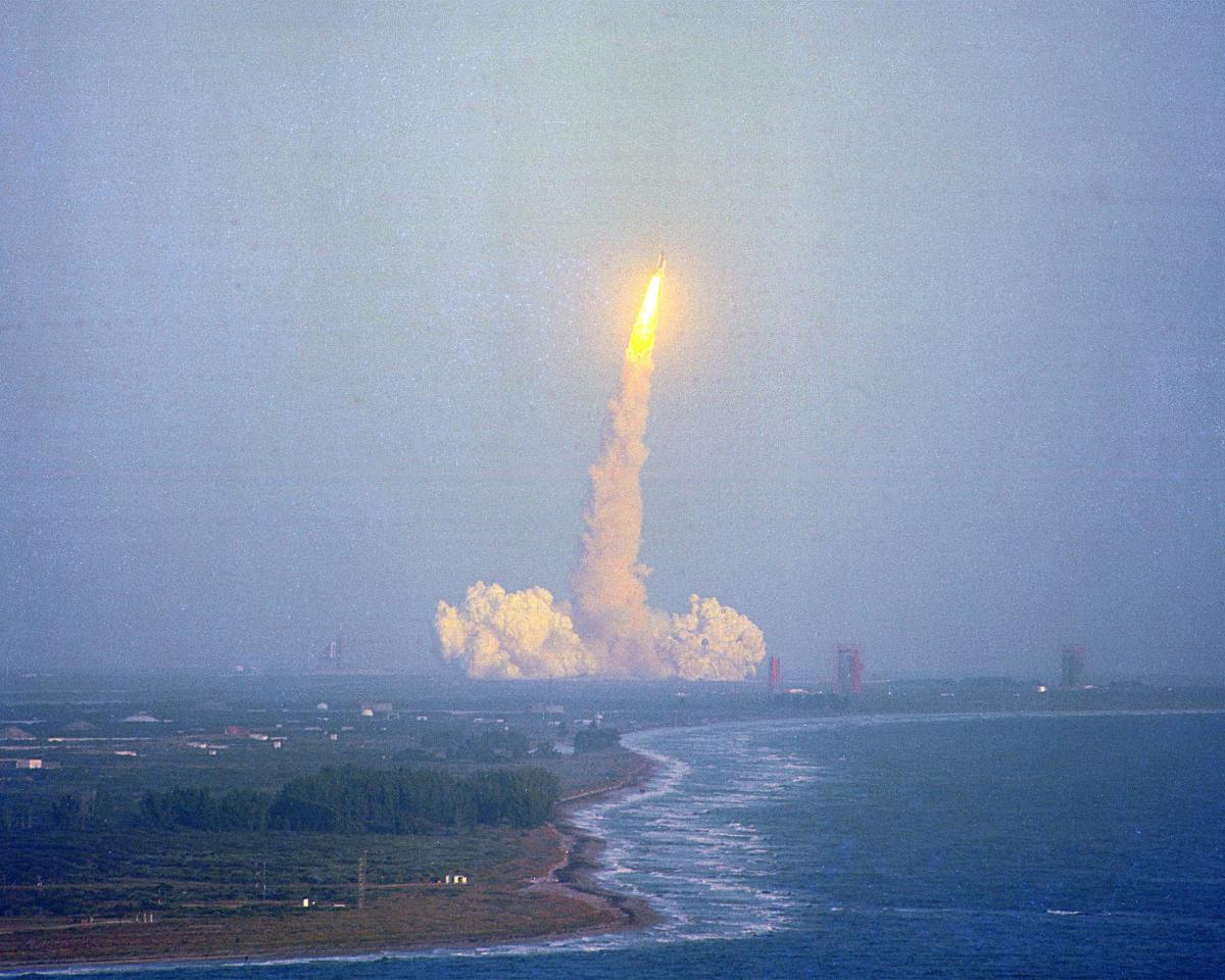 Ambitious Imax Film Cell Challenger Shuttle Launch From The Dream Is Alive Nasa 70mm Film Cells